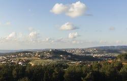 Landschap en wolken Royalty-vrije Stock Afbeelding