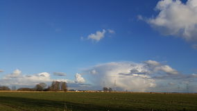 Landschap en wolken in Holland Royalty-vrije Stock Foto's