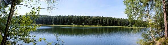 Landschap in Erzgebirge in Saksen Stock Afbeeldingen