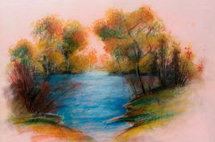 Landschappen - het product van de Kunst Stock Afbeelding