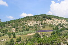 Landschap in Franse Drome Stock Afbeeldingen