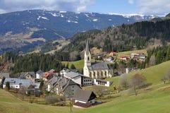 Landschap in Gerlitzen Alpen, Carinthia, Oostenrijk royalty-vrije stock foto