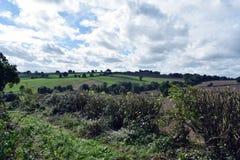 Landschap geschotene Alfreton in Derbyshire stock afbeelding