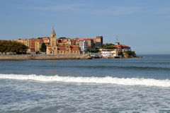 Landschap in Gijon, Asturias Royalty-vrije Stock Fotografie