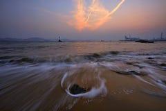 Landschap in Gulangyu-kust in Xiamen royalty-vrije stock afbeelding