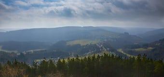Landschap Hellenthal Stock Afbeeldingen