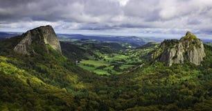 Landschap in het Centrale Massief in Frankrijk Stock Foto