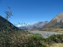 Landschap, het Eiland van het Zuiden, Nieuw Zeeland Stock Foto's