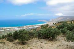 Landschap in het eiland van Kreta Stock Foto