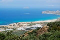 Landschap in het eiland van Kreta Stock Afbeeldingen