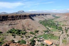 Landschap - het Eiland van Tiago van Sao - Kaapverdië Royalty-vrije Stock Foto's