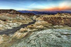 Landschap in het Nationale Park van de Vallei van de Dood Stock Foto's