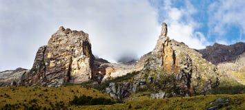 Landschap in het Nationale Park van Huascaran, Peru 3d zeer mooie driedimensionele illustratie, cijfer Royalty-vrije Stock Afbeeldingen