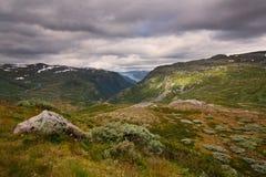 Landschap in het nationale park van Jotunheimen stock foto