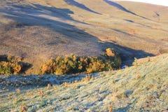 Landschap het Noord- van de Kaukasus Stock Foto