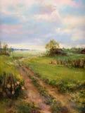 Landschap het schilderen Royalty-vrije Stock Afbeeldingen
