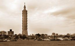Landschap het Van de binnenstad van de vernieuwing in Taipeh stock foto