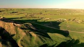 Landschap het Zuid- van Dakota Zwarte Heuvels de Zuid- van Dakota Lucht Mening stock footage