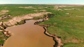Landschap het Zuid- van Dakota Zwarte Heuvels de Zuid- van Dakota Lucht Mening stock videobeelden