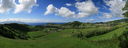 Landschap Horta - Faial-Eiland - de Azoren Royalty-vrije Stock Foto