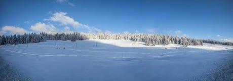 Landschap II van de Winter van de Berg van het Juragebergte stock fotografie