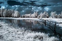 Landschap in infrared Royalty-vrije Stock Afbeeldingen