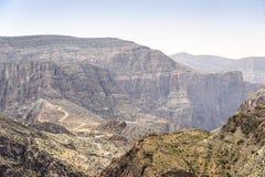 Landschap Jebel Akhdar Oman Royalty-vrije Stock Foto's