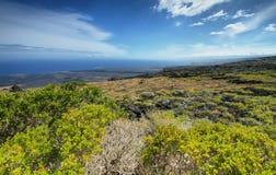 Landschap in ketting van kratersweg Royalty-vrije Stock Foto's