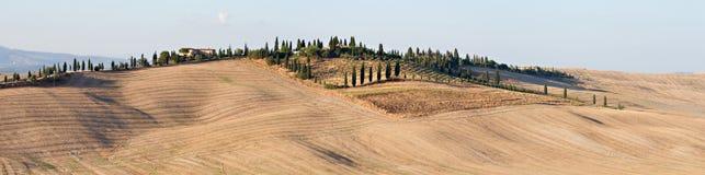 Landschap Kreta Senesi Stock Foto's