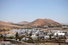 Landschap Lanzarote, Canarische Eilanden, Spanje. Royalty-vrije Stock Afbeelding