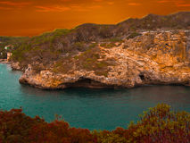 Landschap Mallorca Stock Foto's