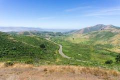 Landschap in Marin Headlands State Park, de baai van San Francisco, Californië stock afbeelding