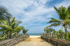 Landschap, mening van Arugam-Strand in Sri Lanka Stock Foto's