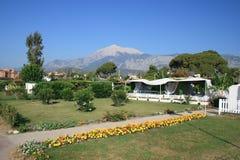 Landschap met berg stock foto