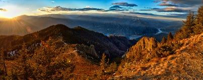 Landschap met bergen Stock Afbeelding
