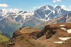 Landschap met Bergketens Stock Afbeelding