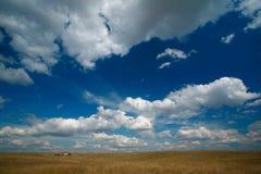Landschap met bewolkte hemel royalty-vrije stock afbeelding