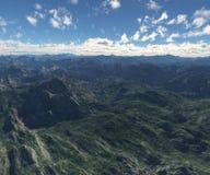Landschap met blauwe hemel en wolken Royalty-vrije Stock Afbeelding
