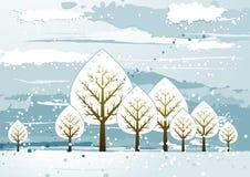 Landschap met bomen, vector vector illustratie