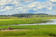 Landschap met de rivier Royalty-vrije Stock Afbeeldingen