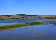 Landschap met de rivier Royalty-vrije Stock Foto