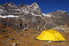 Landschap met de tent Stock Afbeeldingen