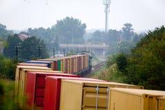 Landschap met de trein royalty-vrije stock foto's