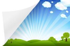 Landschap met Document vector illustratie
