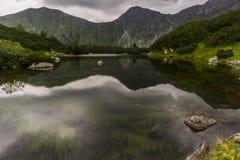 Landschap met een bergmeer Royalty-vrije Stock Foto's