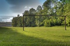 Landschap met een lege poort Stock Afbeeldingen
