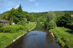 Landschap met een rivier stock foto