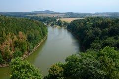 Landschap met een rivier Royalty-vrije Stock Foto