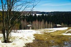 Landschap met een windmolen Royalty-vrije Stock Afbeelding