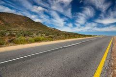 Landschap met eenzame straat of weg Stock Fotografie